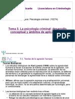 TEMA 3 Psicología criminal