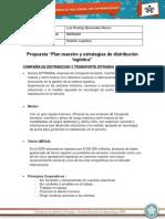 """Propuesta """"Plan Maestro y Estrategias de Distribución Logística"""""""