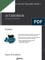 Tipos de Bombas Accesorios