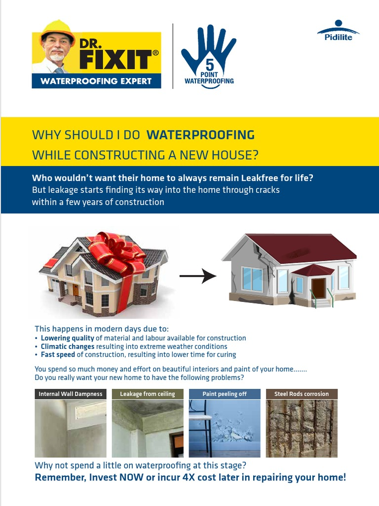 Dr Fixit Waterproofing Guide Brochure Roof Corrosion