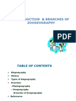 Branches of Zoogeography