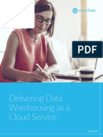 Delivering Data Warehousing as a Cloud Service