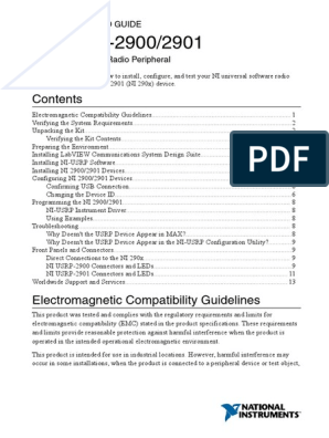 Getting Started Guide For Usrp 2900 Electromagnetic Compatibility Usb