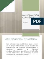 MALFORMACIÓN CONGÉNITA