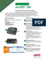 APC Back-UPS 700 Manual