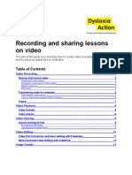 Recording and Sharing Lessons With Video