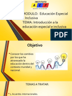 Introduction a la educación especial e inclusiva / diapositivas