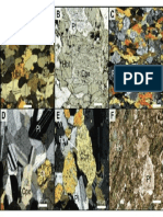 Photomicrographs of Representative Gabbro and Diabase Assemblages and Textures Sample