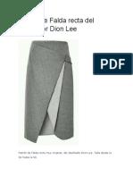Patrón de Falda Recta Del Diseñador Dion Le1