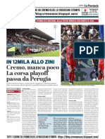 La Provincia Di Cremona 05-05-2019 - In 12 Mila Allo Zini