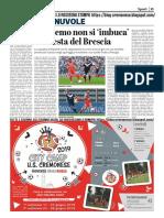 La Provincia Di Cremona 05-05-2019 - Polpacci & Nuvole