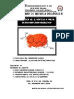 Práctica 2 - Química Orgánica II Síntesis a Partir de Un Compuesto Aromático