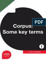 CASS (2013) - Brief Glossary of Corpus Linguistics key concepts
