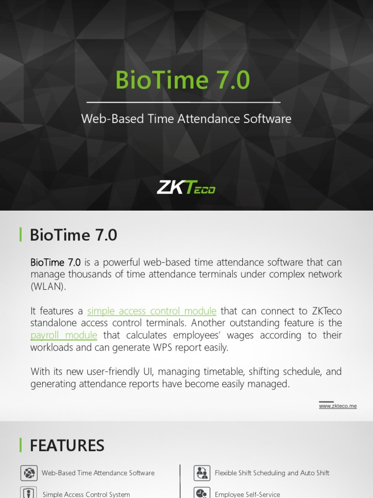 Biotime 7 0: Web-Based Time Attendance Software