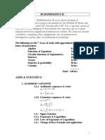 Ib Mathematics Sloutline