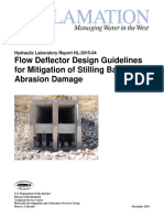 Flow Deflector Design Guidelines for Mitigation of Stilling Basin Abrasion Damage