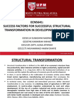 Final ECN5641 Success Factors of Structural Transformation in Developing Countries.pptx
