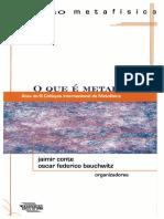 [Coleção metafísica] Jaimir Conte & Oscar Federico Bauchwitz - O que é metafísica (2011, Editora da UFRN).pdf