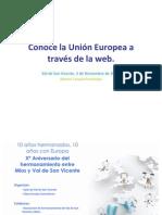 Conoce la UE a través de a web