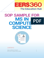 SOP Sample for MS Computer Science