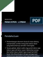 Kuliah Manajemen Limbah Bagian 1