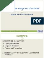 méthodologie pour la rédaction du rapport du stage