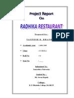 61700837-RADHIKA-Restaurant-MBA-Project-Report-Prince-Dudhatra.doc