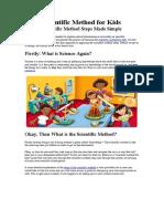 Steps of Scientific Method for Kids