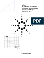 Network Analysis - De-embedding and Embedding S-Parameter Networks Using a Vector Network Analyzer