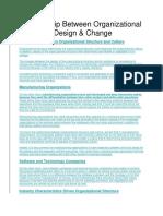 Relationship Between Organizational Structure