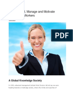 How to Lead, Manage and Motivate Knowledge Workers