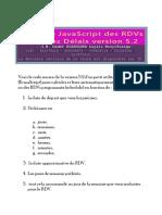 Utilitaire Javascript Des RDVs Et Autres Délais Version 5.2