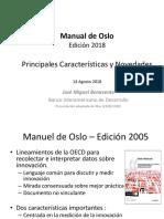 20180816 Presentación JM Benavente Revision Manual Oslo Cuarta Versión 2018