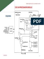 Modelo Algoritmico Procesador Sencillo