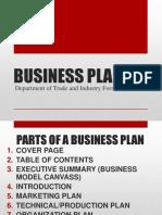 2018_2ndsem_format of Business Plan