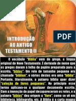 INTRODUÇÃO AO ANTIGO TESTAMENTO II Parte 1