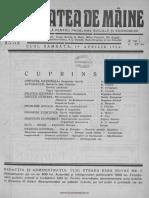 Societatea de Mâine Revistă Săptămânală Pentru Probleme Sociale Şi Economice, 01, Nr. 02, 19 Aprilie 1924