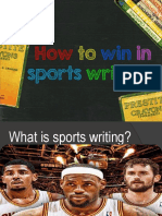 How to Win in Sports Writing