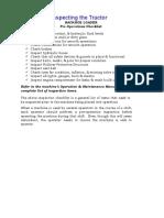 BACKHOE LOADER Pre-Operations Checklist