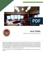 Cartilla Sala Plena 30 de Abril de 2019