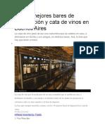 Los 10 Mejores Bares de Degustación y Cata de Vinos en Buenos Aires