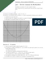 Devoir Commun Math 1 Lycee Bellepierre