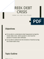 The Greek Debt Crisis 2009 Group 2