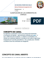 Clasificación de Las Corientes en Canales Grupo 1