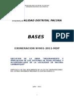 Bases Pacora Exoneracion Saneameinto 2011