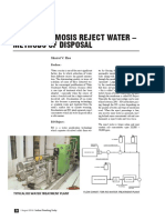 201608-26-Reverse Osmosis Reject Water - Methods of Disposal