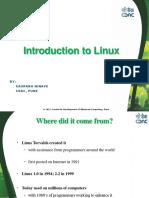 Linux Hands on PARAM Shavak