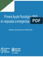 Primera Ayuda Psicológica (PAP)