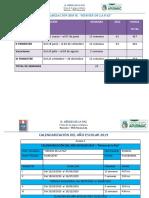 Calendarización 2019 HP
