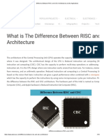 Difference Between RISC and CISC Architectures and Its Applications